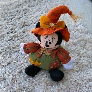 EUC Disney Minnie Mouse Plush Scarecrow
